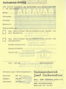 1983 Mitgliedsantrag